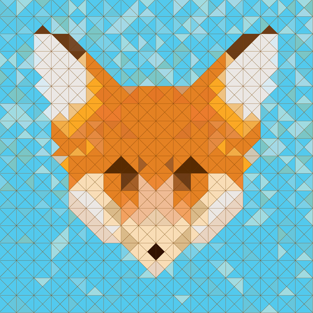 geometric fox image