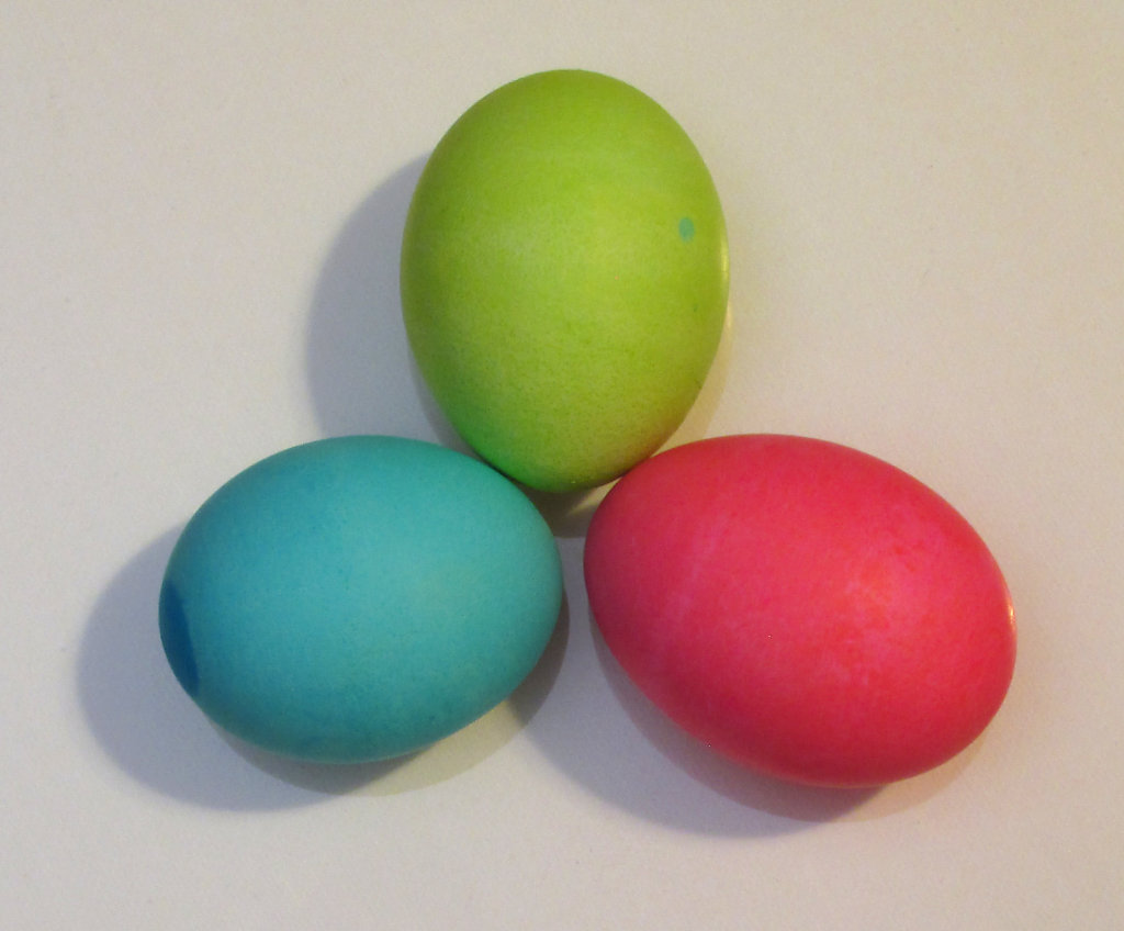 Image of Pink, Green and Blue Easter Eggs