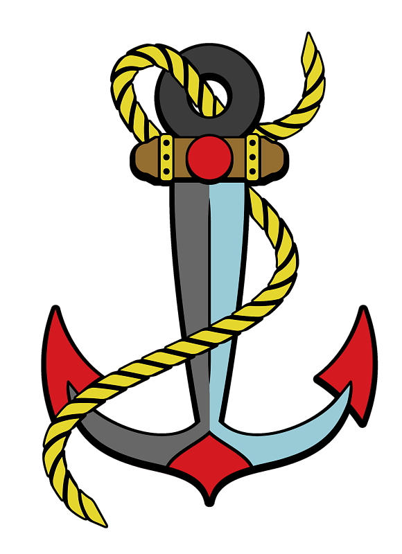 American Traditional Anchor With Transparent Background