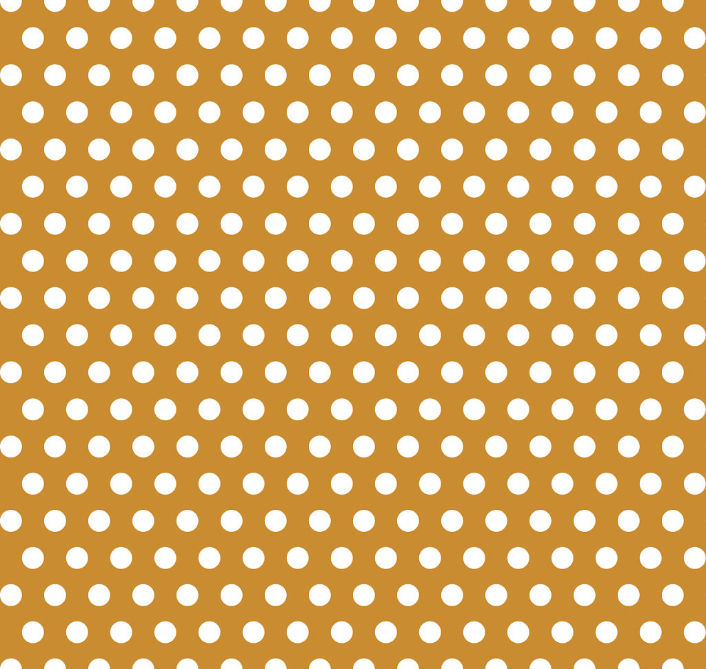 Bronze colored background with white seamless polka dot pattern