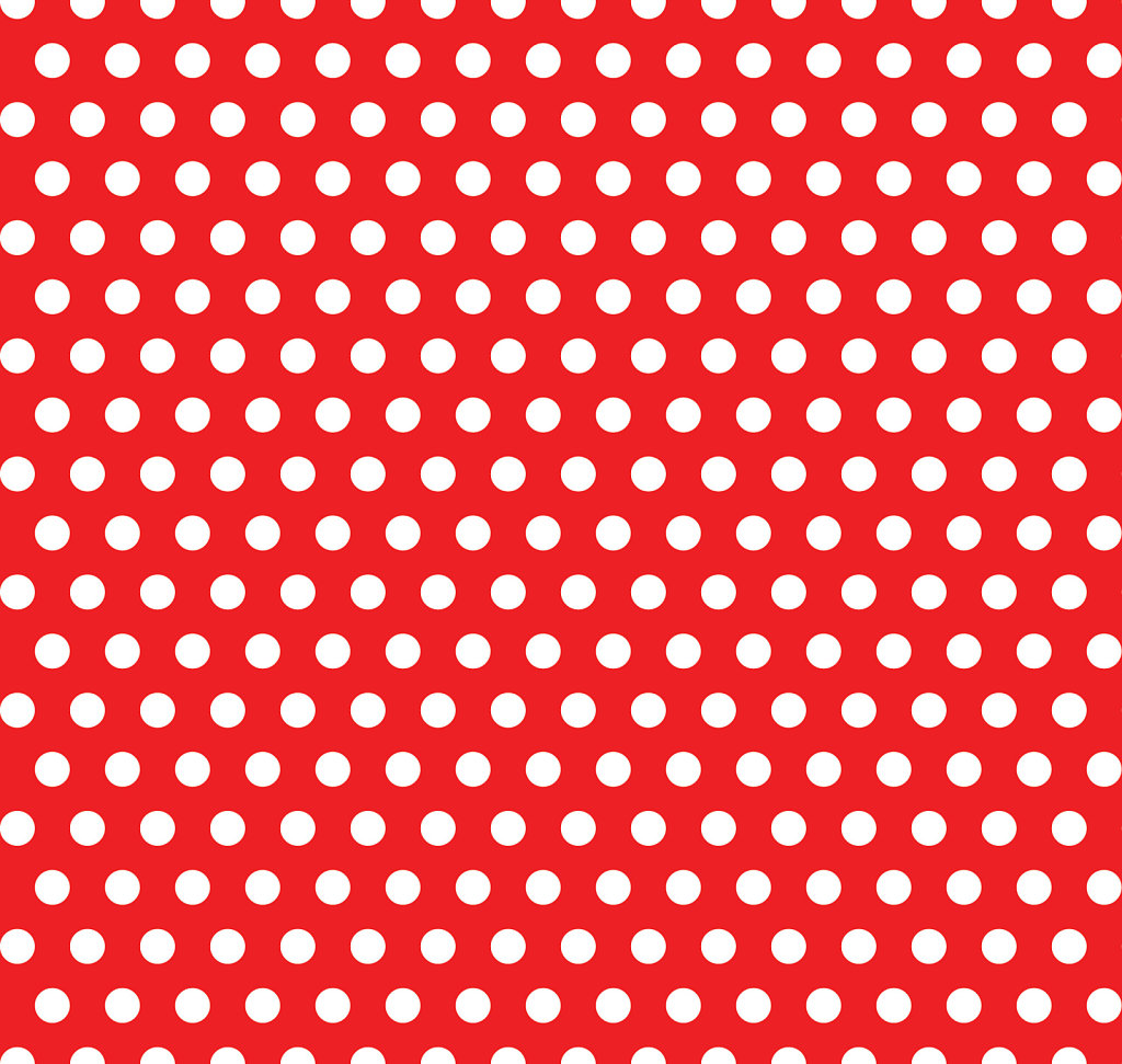 Red with white polka dot seamless background