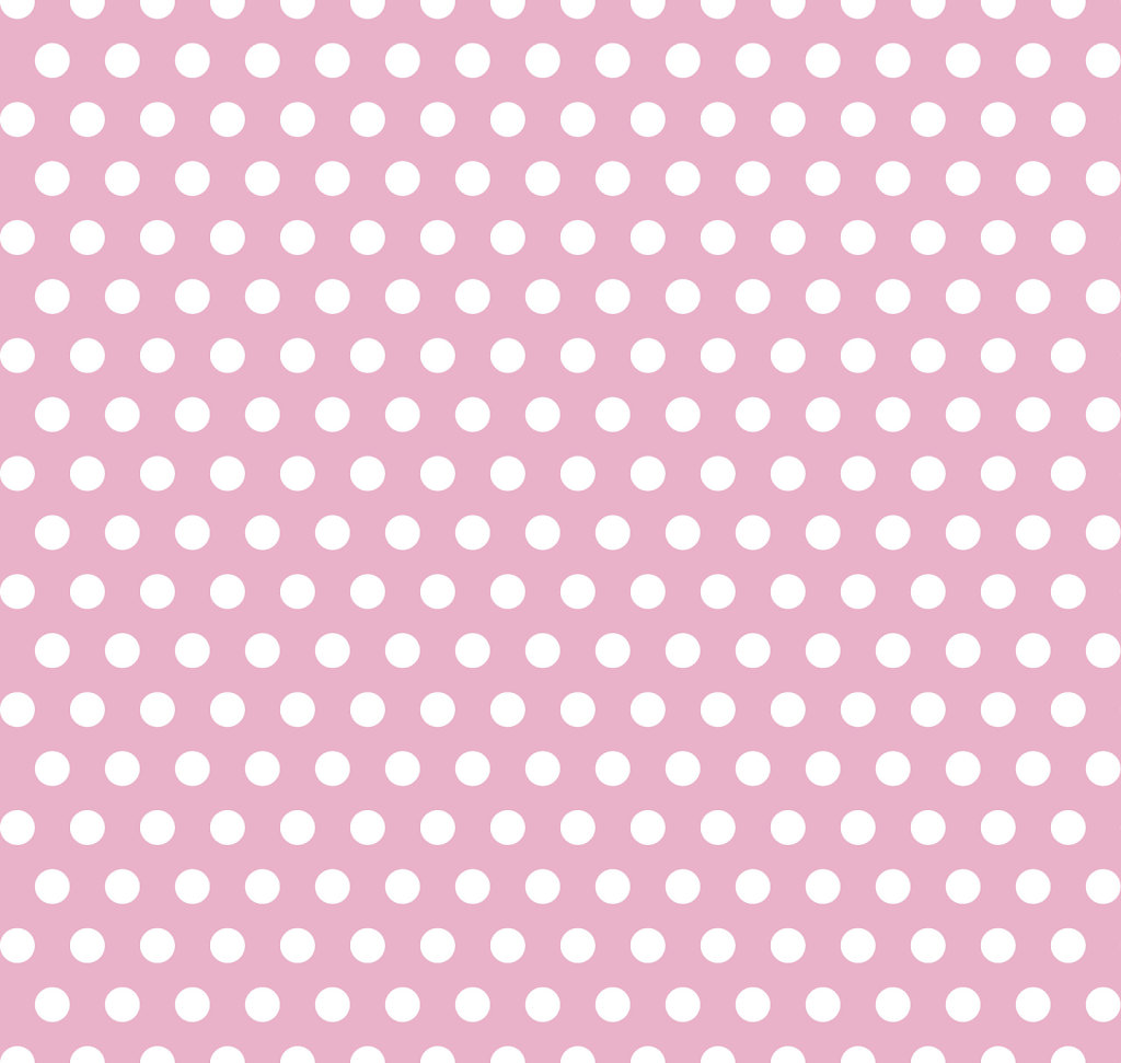 Pink with white polka dot seamless pattern