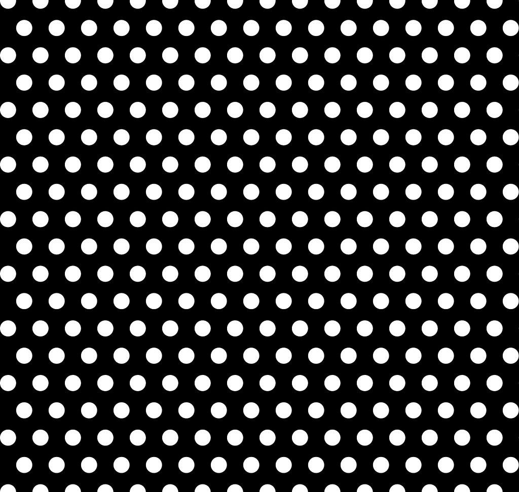 Black and white polka dots pattern