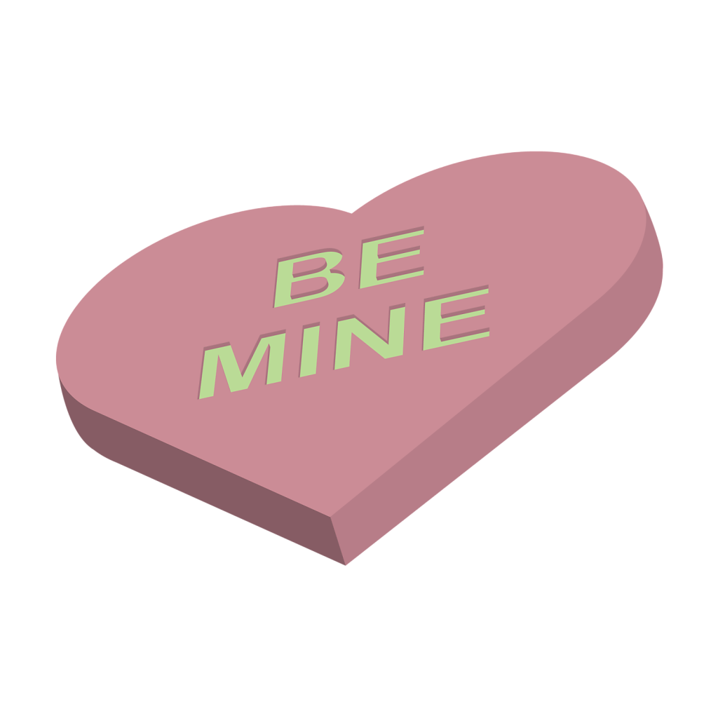 Be Mine valentines candy vector icon