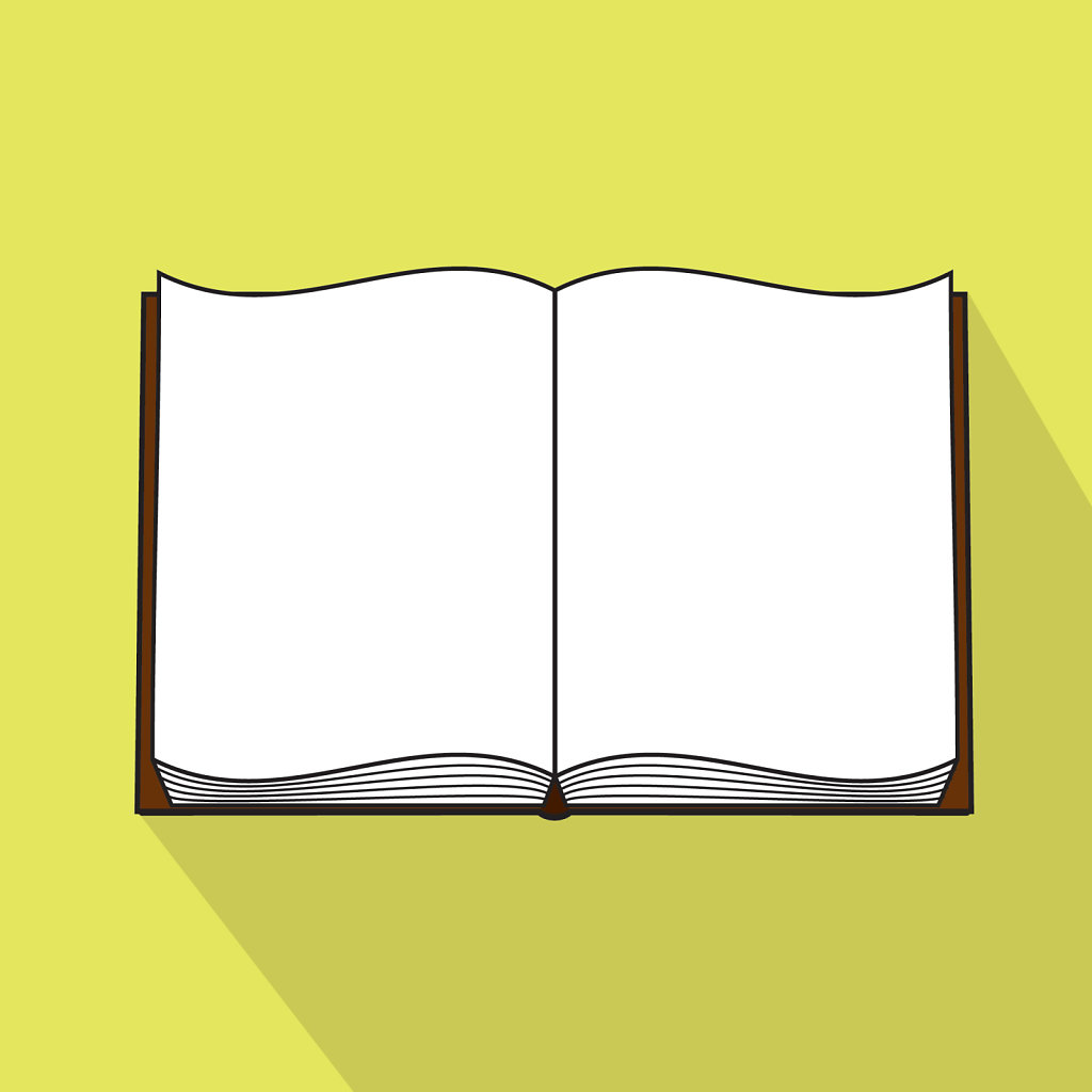 Flat design inspired open book icon