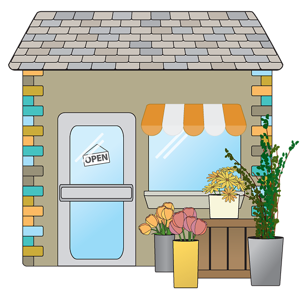 Spring or Summer small business flower shop