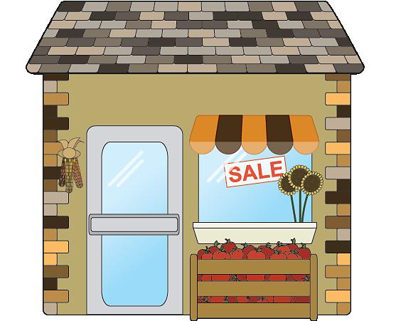 Autumn season small business shop icon
