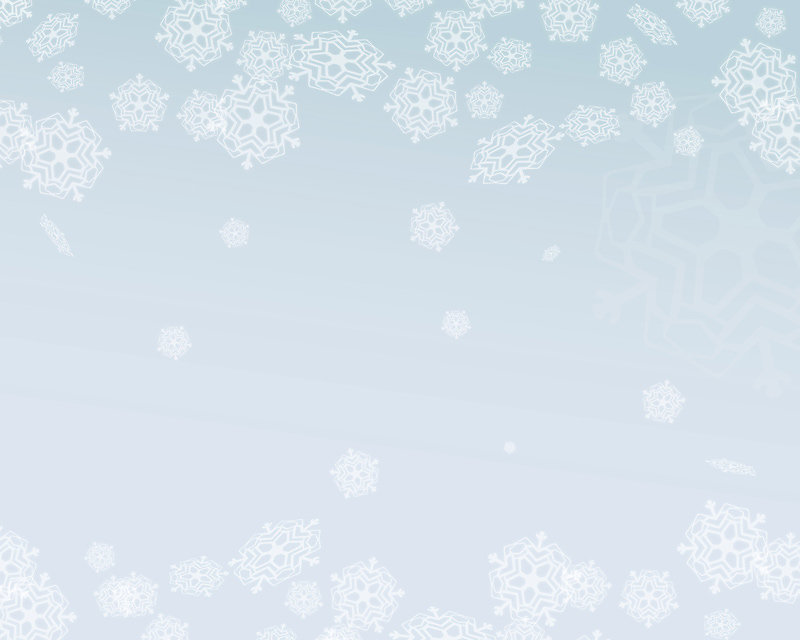 Snow flake background with top and bottom border