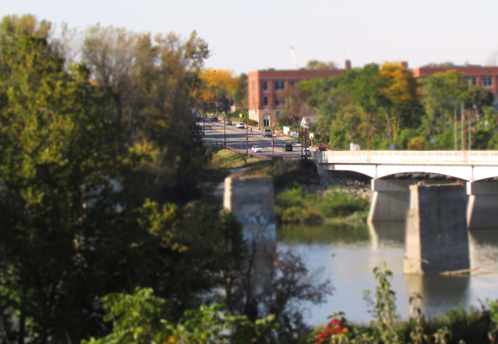 Tilt Shift Perrysburg bridge