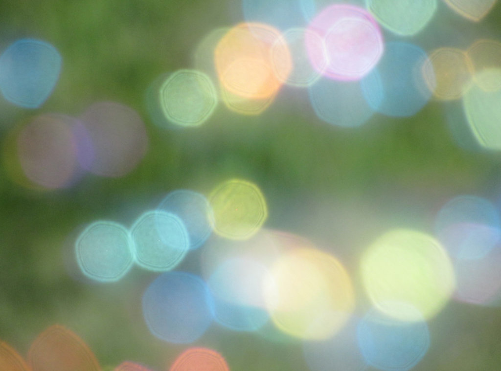 True bokeh effect bubbles