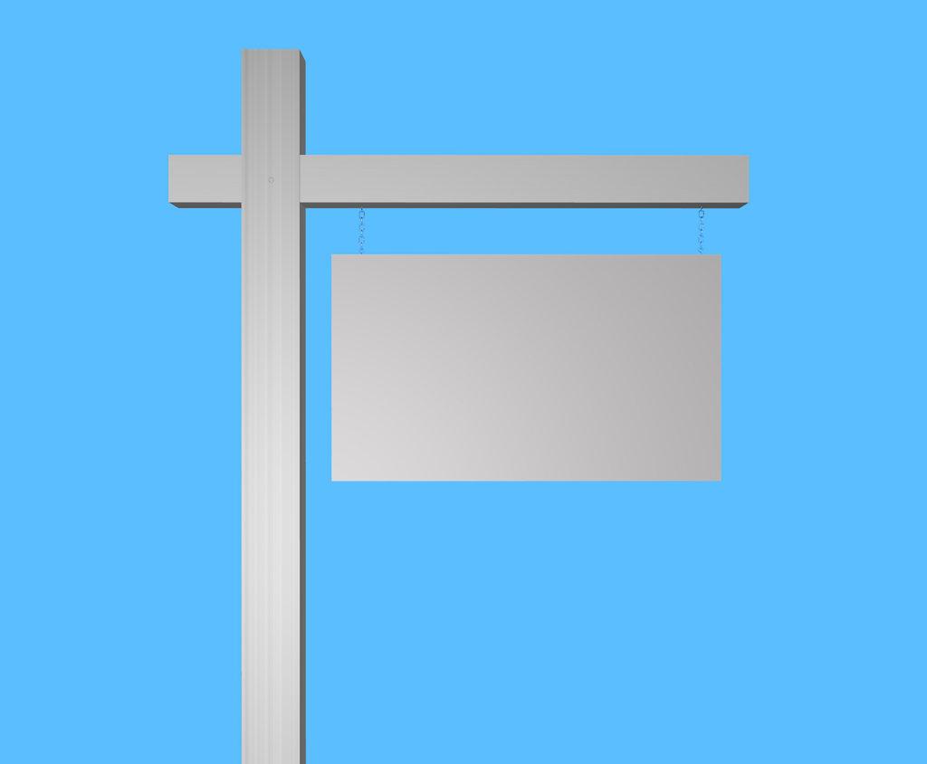 Forward blank yard sign