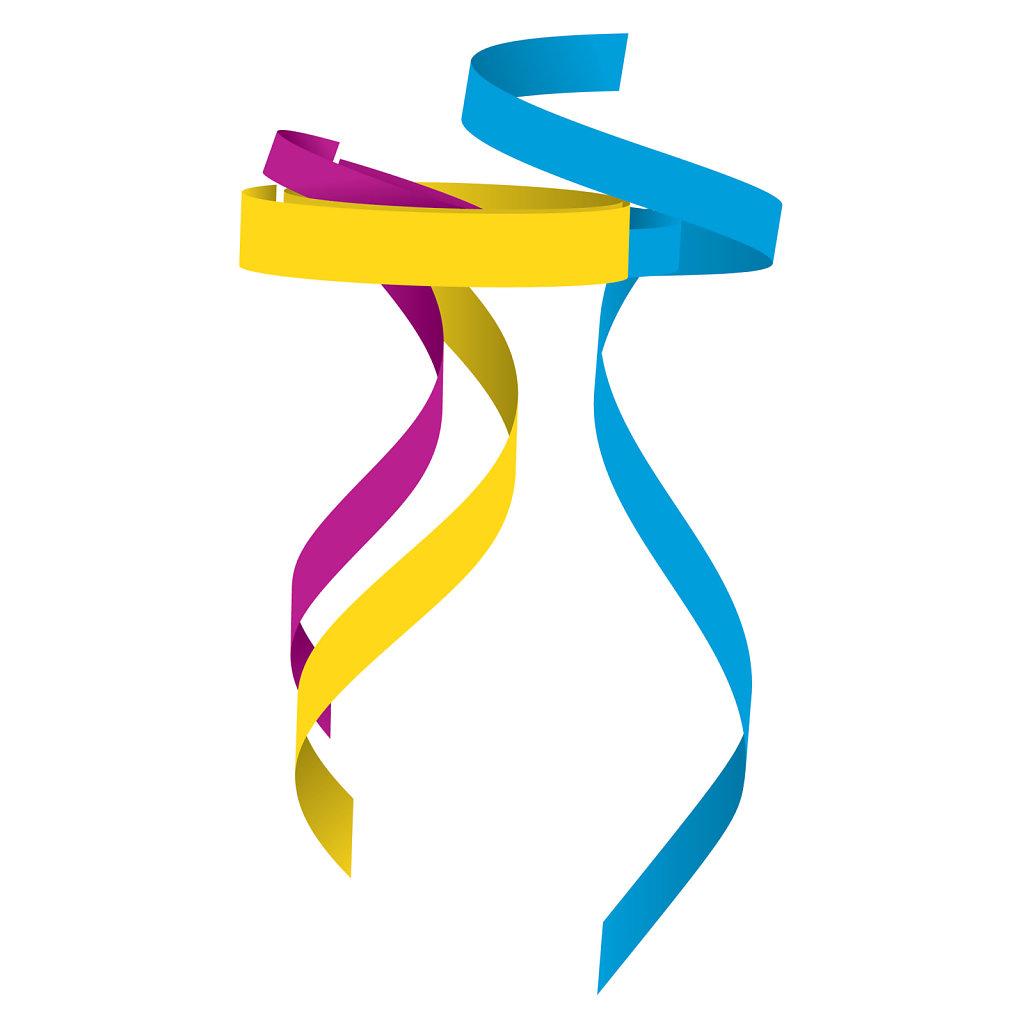 Colorful ribbon design element