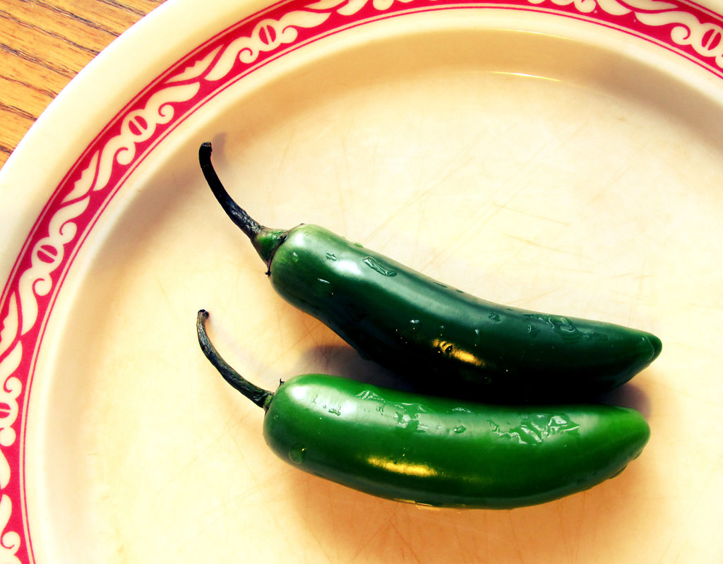 hot peppers on a plate