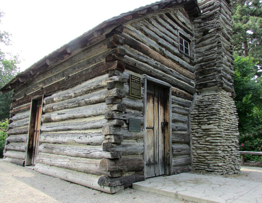 Restored log cabin picture