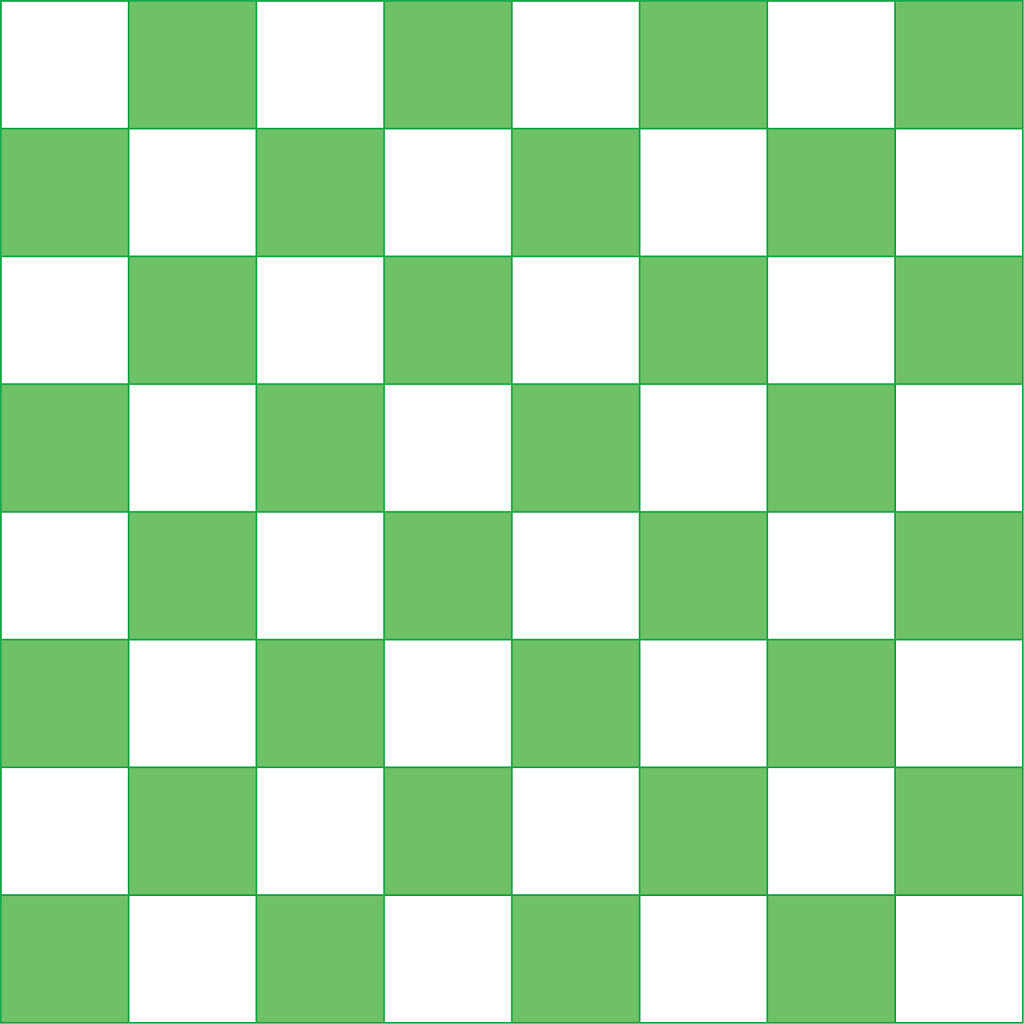 Green and white checker board for game making