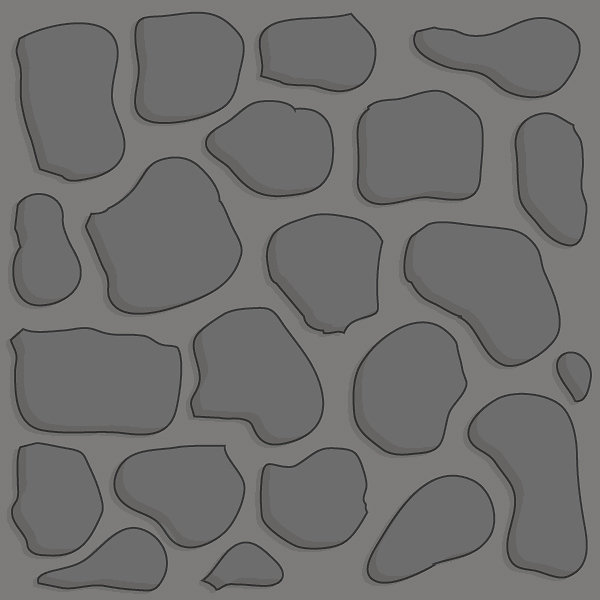 Gray stone 2x2 basic path tile