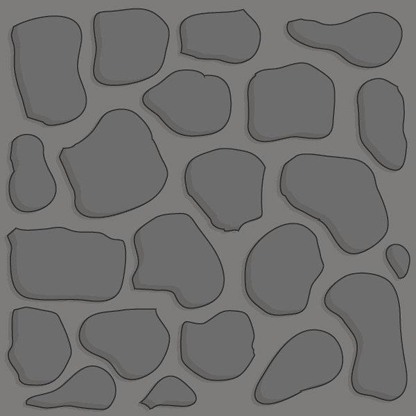 Gray stone 2x2 basic path tile