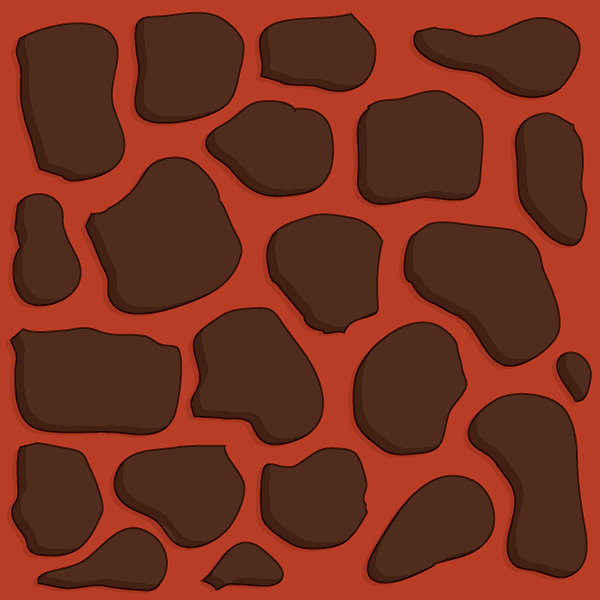 Lava burnt orange 2x2 basic path tile